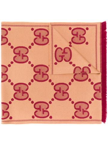 Gucci Gg Pattern Scarf - Neutrals