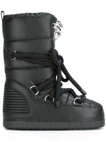 Versace 'palazzo' Snow Boots, Black, Cotton/polyester/leather