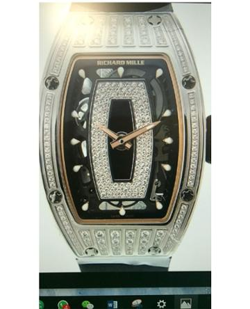 Farfetch Vip Richard Mille - Rm 07-01 Half Diamond White Gold -