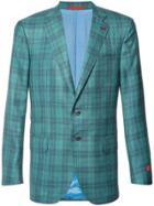 Isaia Plaid Blazer - Green