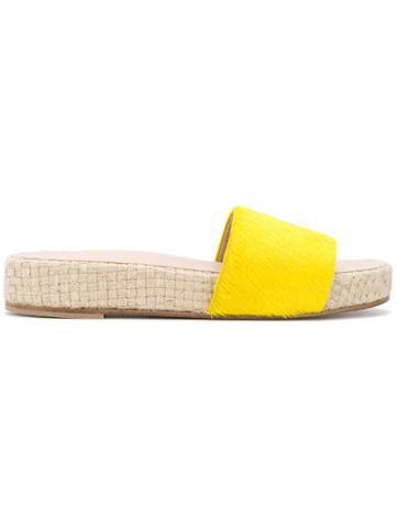 Solange Sandals Platform Slides - Yellow & Orange