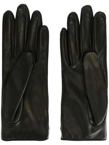 Gucci - Classic Gloves - Women - Silk/lamb Skin - 7, Black, Silk/lamb Skin