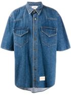 Nanushka Oversized Denim Shirt - Blue