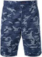 Loveless Camouflage Print Shorts, Men's, Size: 1, Blue, Cotton