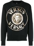 Versus Foiled Logo Sweatshirt - Black