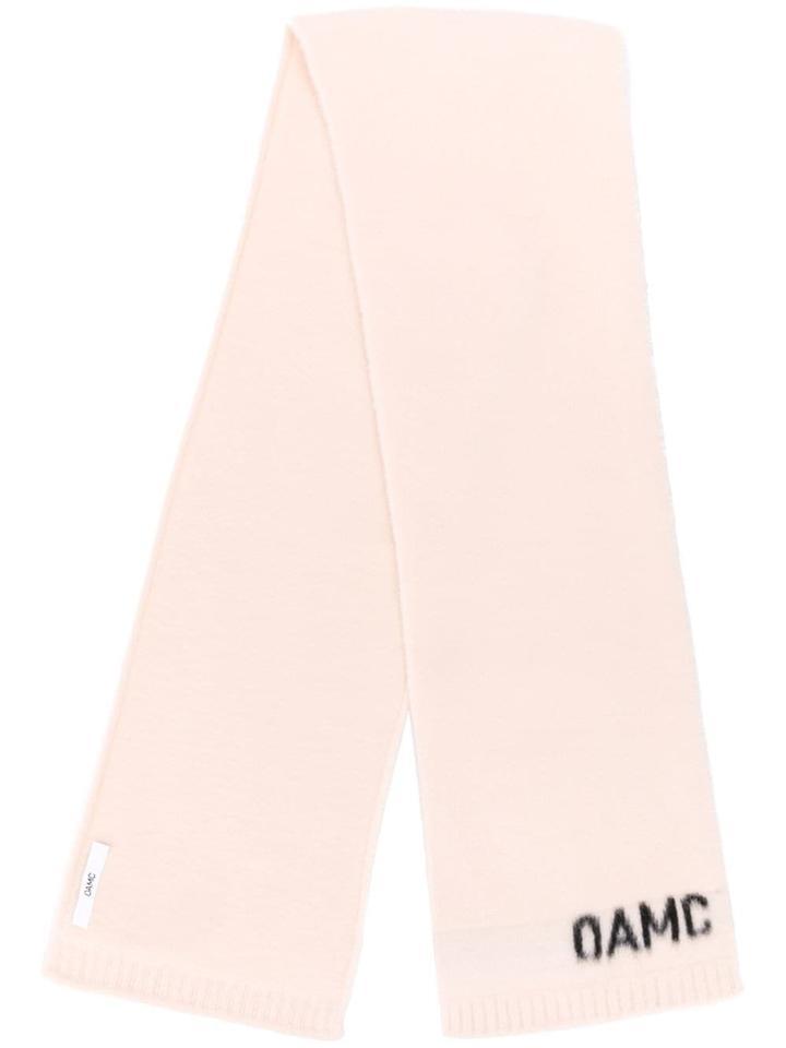 Oamc Logo Knit Scarf - Neutrals