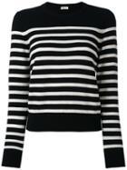 Cashmere Striped Sweater - Women - Cashmere - S, Black, Cashmere, Saint Laurent