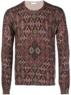 Etro Patterned Knit Sweater - Red