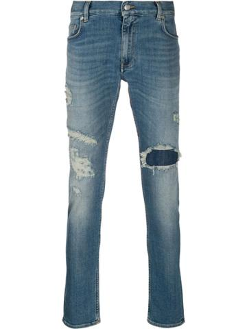 Tommy Hilfiger Mid-rise Distressed Jeans - Blue