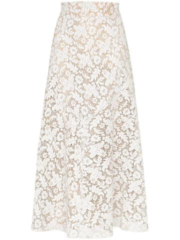 Skiim Lace Midi Skirt - White