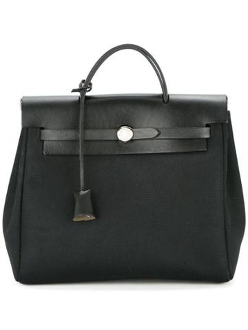 Hermès Vintage Her Bag Ado Pm 2 In 1 Backpack Hand Bag - Black