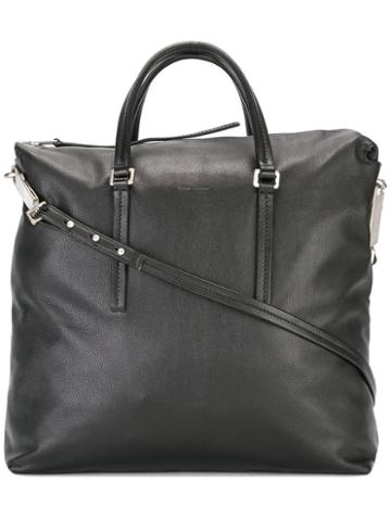 Rick Owens Square Tote, Women's, Black, Leather