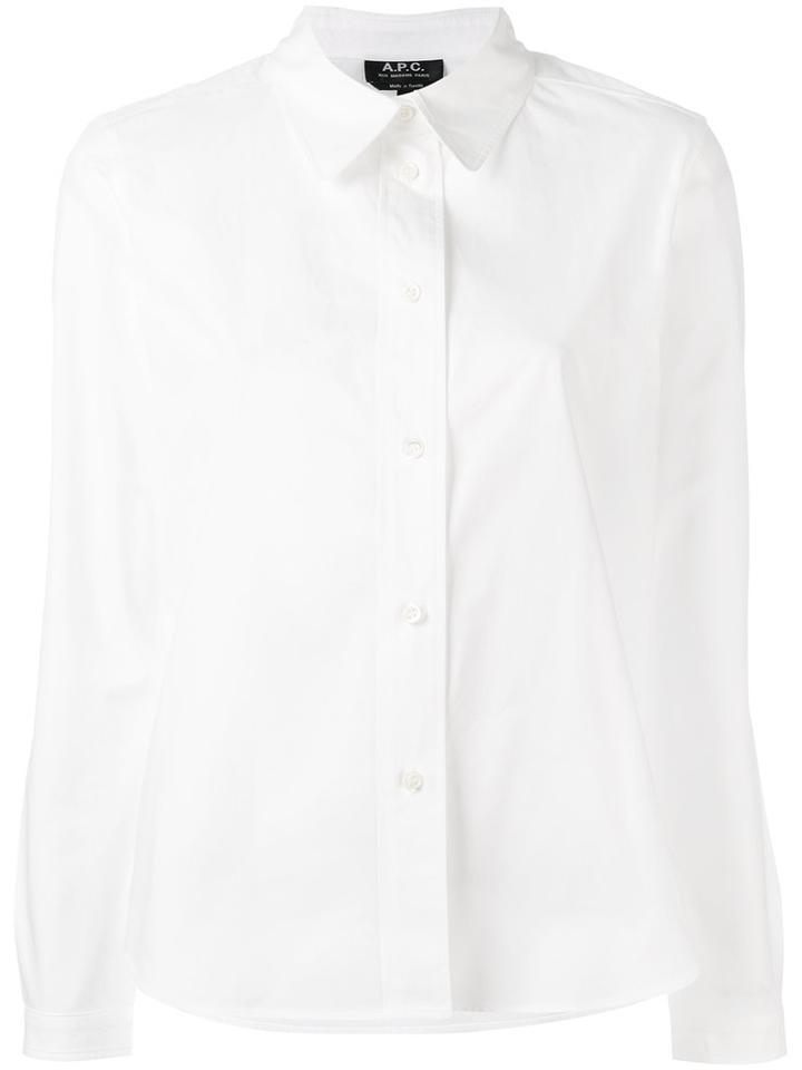 A.p.c. - Longsleeve Shirt - Women - Cotton - 40, White, Cotton