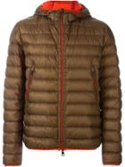 Moncler Hooded Padded Jacket - Brown