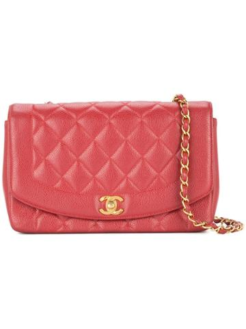 Chanel Vintage Chanel Diana Quilted Chain Shoulder Bag - Red