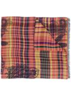 Etro Plaid Fringed Scarf - Pink