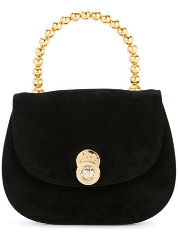 Céline Vintage Star Logo Plate Handbag - Black