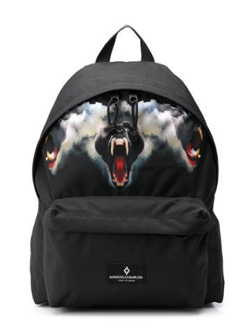 Marcelo Burlon County Of Milan Kids Teen Printed Backpack - Black