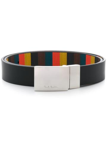 Paul Smith Colour-block Print Belt - Black