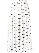 Vivetta Polka-dot Pleated Skirt - White
