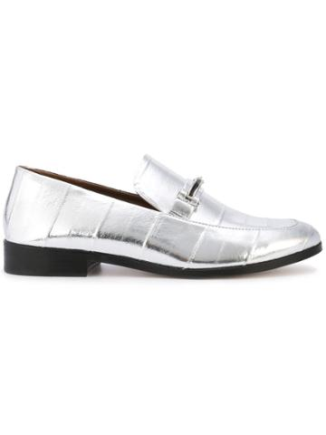 Newbark Melanie Metallic Loafers - Grey