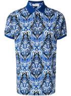 Etro Printed Polo Shirt - Blue