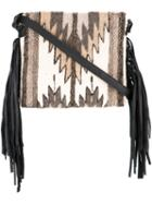 Manos Zapotecas Aztec Shoulder Bag, Women's, Brown