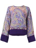 Etro Patterned Top - Pink & Purple
