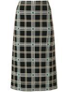 Fendi Plaid Pencil Skirt - Multicolour