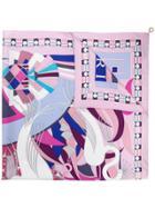 Bulgari Patterned Scarf - Pink & Purple