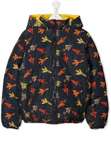 Stella Mccartney Kids Teen Reversible Rocket Print Jacket - Blue