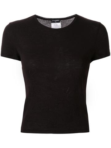 Chanel Pre-owned Punch Holes Logo T-shirt - Brown