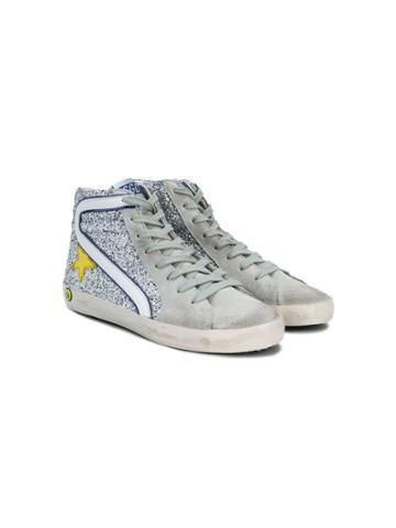 Golden Goose Deluxe Brand Kids Slide Hi-top Sneakers - Metallic