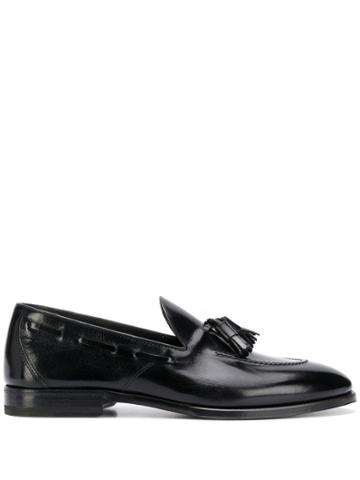 Henderson Baracco Fringe Tassel Loafers - Black