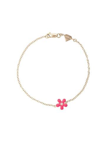 Alison Lou 14kt Yellow Gold Wildflower Bracelet
