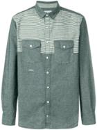 Neighborhood Striped Panel Shirt - Blue