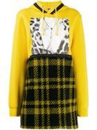 Gina Patchwork Print Hoodie - Yellow