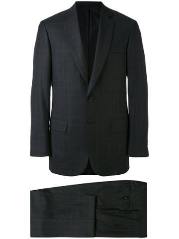 Brioni - Check Suit - Men - Wool/silk - 48, Black, Wool/silk