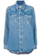 Off-white Casual Denim Shirt - Blue