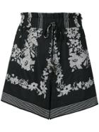 Nanushka Printed Shorts - Black