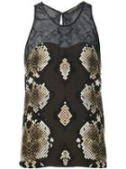 Roberto Cavalli Embroidered Knit Dress