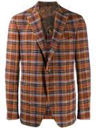 Etro Checked Blazer - Brown