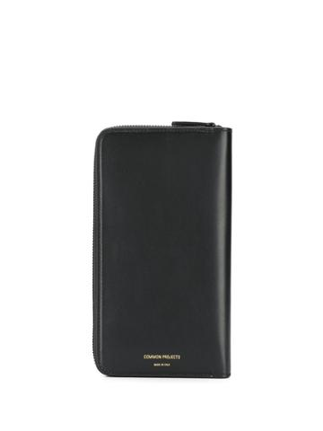 Common Projects Logo Print Continental Wallet - Black