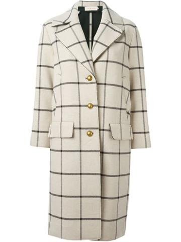 Tory Burch Checked Coat