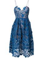 Self-portrait Floral Azaelea Lace Dress - Blue