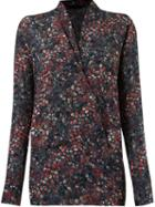 Giuliana Romanno Floral Print Longsleeved Blouse