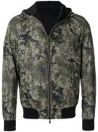 Herno Hooded Camouflage Bomber Jacket - Green