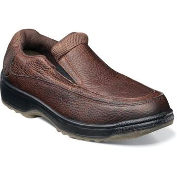 Florsheim Lucky Mens Leather Moc Toe Slip On Safety Shoe
