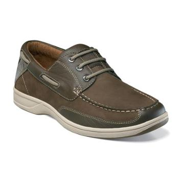 Lakeside Florsheim Men's Lakeside Moc Toe Numbuck And Leather Casual Oxford