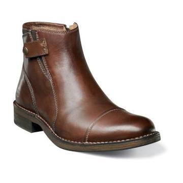 Cobblestone Cap Florsheim Cobblestone Cap 15060 Mens Distressed Leather Side Snap Boot